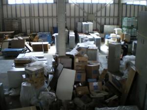 仙台倉庫被災状況