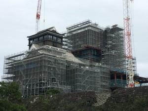 熊本城天守閣復旧工事
