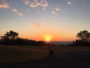 ゴルフ場日の出
