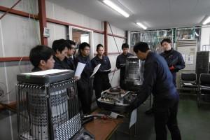 暖房商品講習